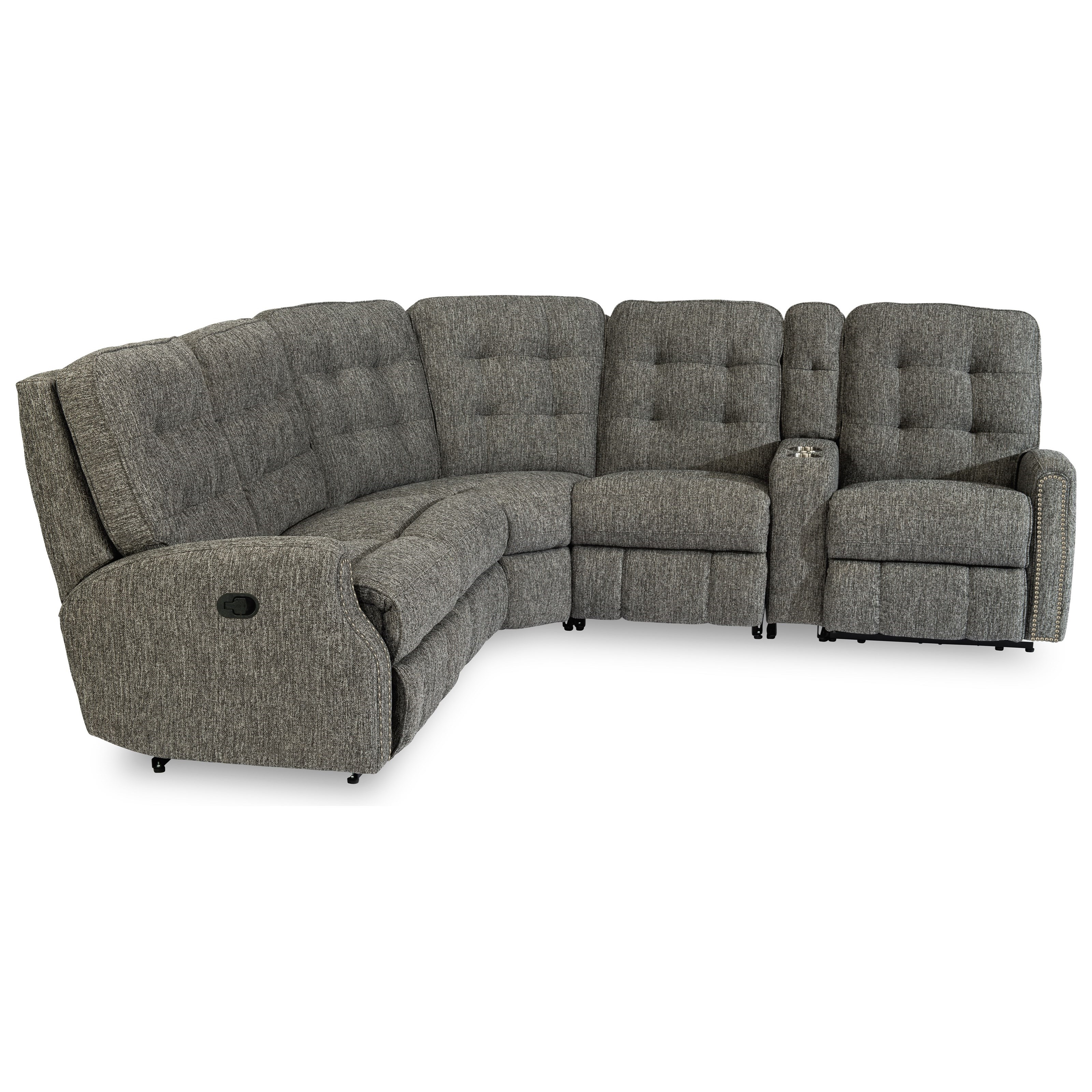 Devon 6-Piece Reclining Sectional by Flexsteel at Home Collections Furniture