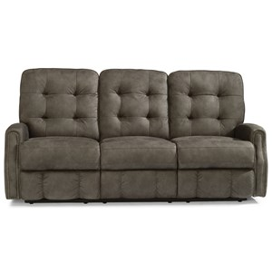 Button Tufted Power Reclining Sofa with Power Headrests and USB Ports