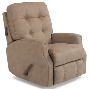 Button Tufted Swivel Glider Recliner