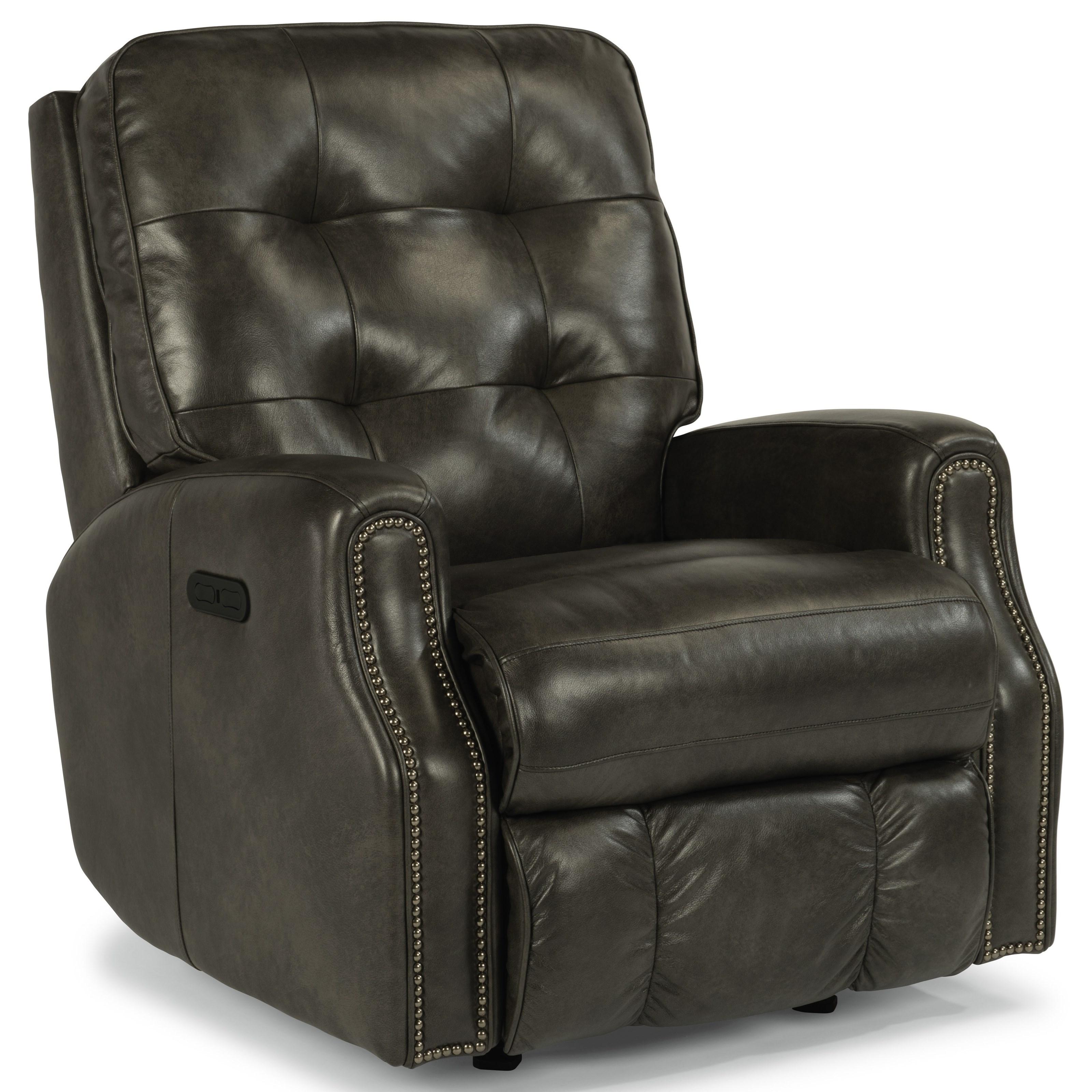 Devon Power Rocker Recliner w/ Power Headrest by Flexsteel at Crowley Furniture & Mattress