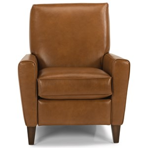 Upholstered High Leg Recliner Chair