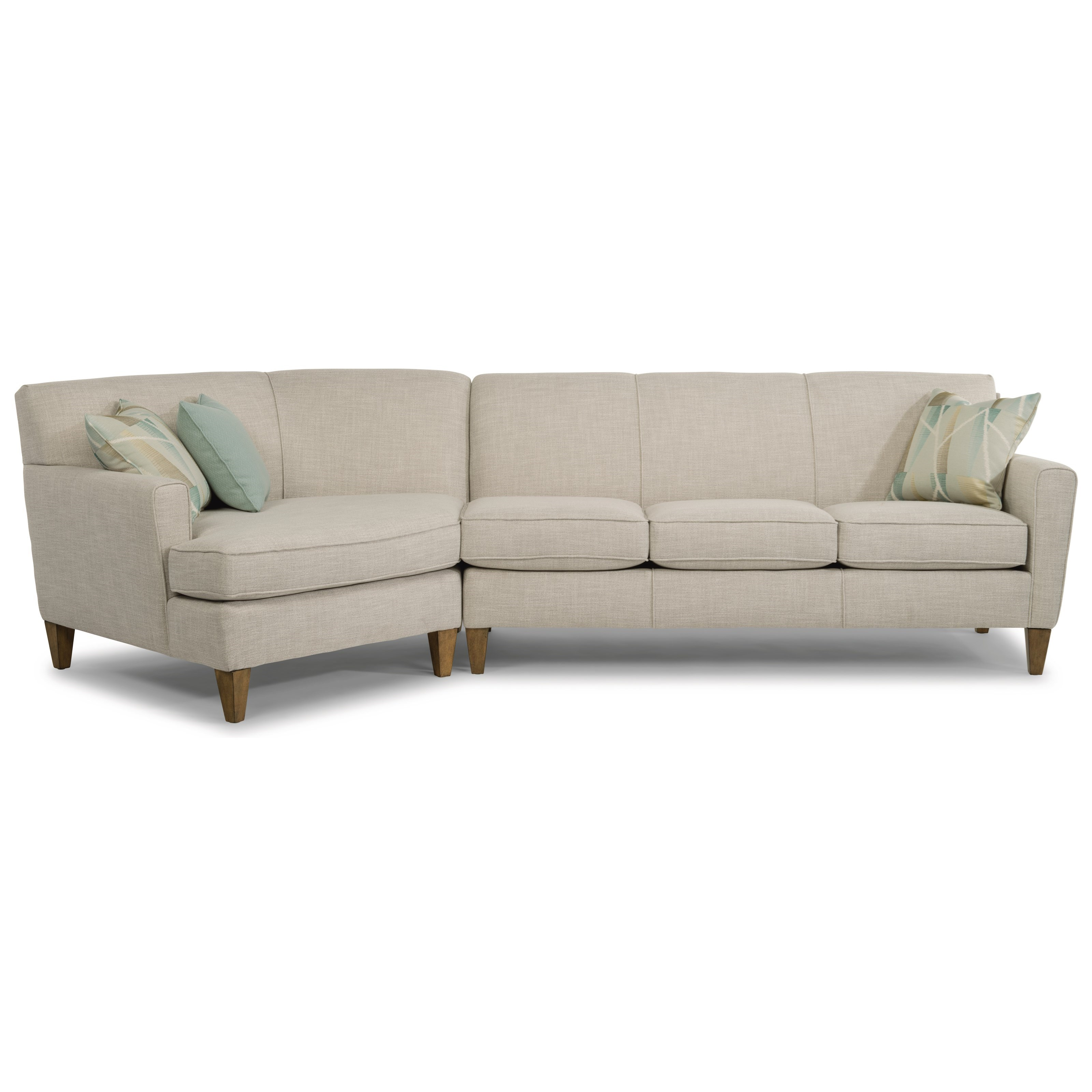 Bella Sectional with Cuddler by Flexsteel at Crowley Furniture & Mattress
