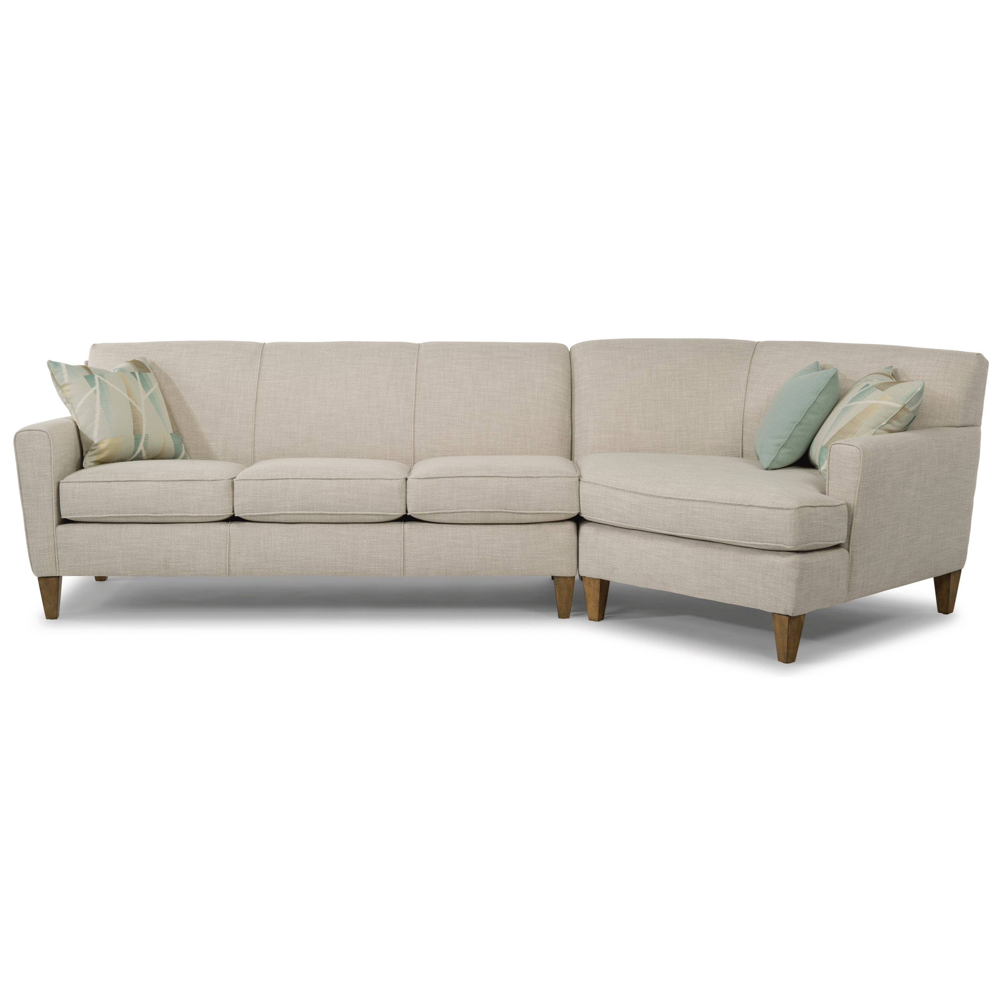 Digby 2-Piece Sectional with RAF Angled Chaise by Flexsteel at Mueller Furniture