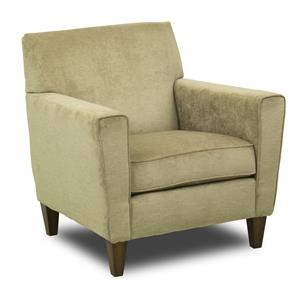 Upholstered High Leg Recliner Chair