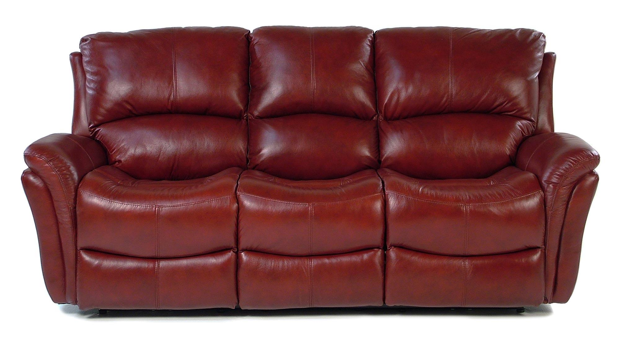Casual Reclining Sofa with Power Motion and Folded Pillow Arms