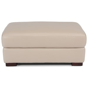 Contemporary Rectangular Cocktail Ottoman with Casters