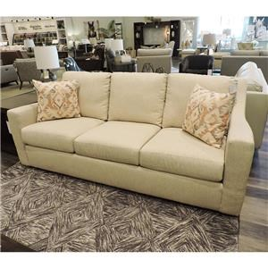 Contemporary 3-Cushion Sofa with Track Arms