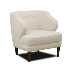 Mid-Century Modern Wing Chair with Button Tufting