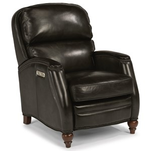 Transitional Power High-Leg Recliner with Power Headrest and USB Port