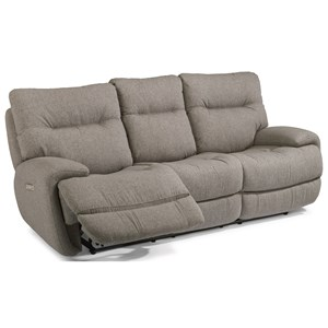 Power Reclining Sofa with Power Headrest and Fold Down Middle Console