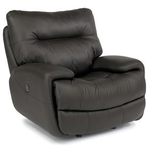 Power Glider Recliner with Large Pillow Arms