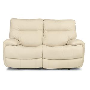 Power Reclining Love Seat with Power Headrests and USB Port