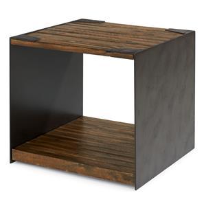 Flexsteel Flat Iron Lamp Table