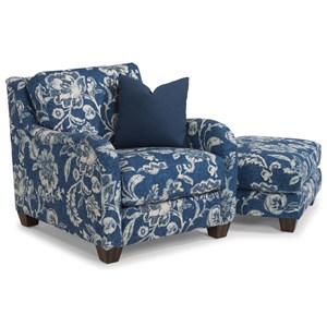 Flexsteel Fortuna Chair & Ottoman Set