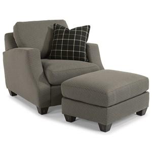 Flexsteel Grayson Chair & Ottoman Set