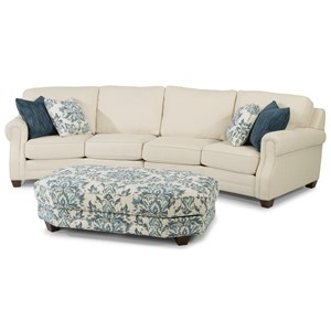 Conversation Sofa Sectional with Rolled Panel Arms