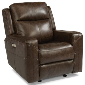 Power Gliding Recliner with Power Headrest and USB Port