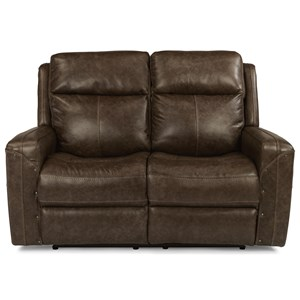 Power Reclining Love Seat with Power Headrest and USB Ports
