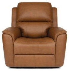 Aarons Power Headrest & Lumbar Recliner by Flexsteel at Crowley Furniture & Mattress