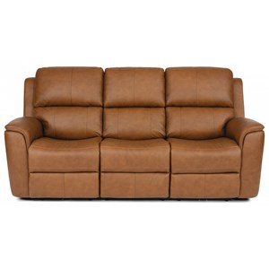 Casual Power Reclining Sofa with Power Headrest and Power Lumbar Support