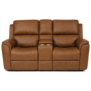 Power Reclining Loveseat with Power Headrest, Power Lumbar Support and Console