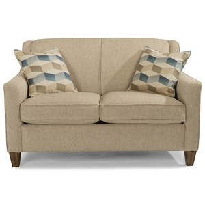 Contemporary Loveseat  with Welt Cording