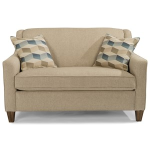 Contemporary Twin Sleeper Sofa with Angled Track Arms