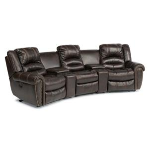 Flexsteel Latitudes - Hometown 5 Pc Power Reclining Home Theater Sectional