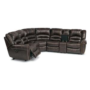 Flexsteel Latitudes - Hometown 6 Pc Power Reclining Home Theater Sectional