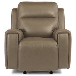Contemporary Power Gliding Recliner with Power Headrest and USB Port