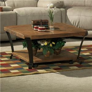 Flexsteel Kenwood Square Cocktail Table w/ Casters