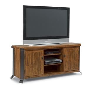 Entertainment Center with Wood and Steel