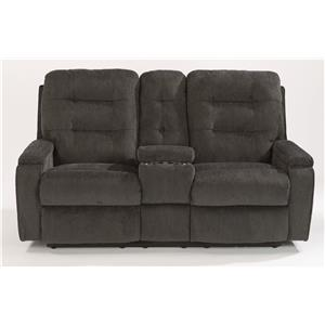 Power Reclining Loveseat with Lighting Cupholder and Storage Console
