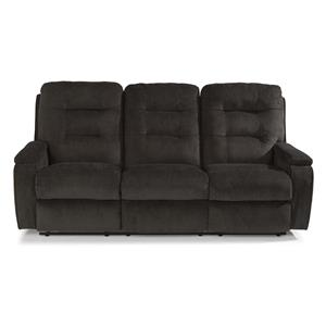 Casual Biscuit Back Power Reclining Sofa