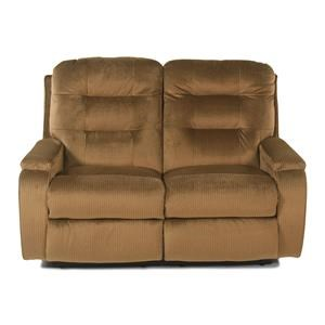 Casual Biscuit Back Reclining Loveseat