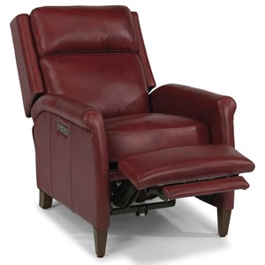 Transitional Power High-Leg Recliner with Power Headrest