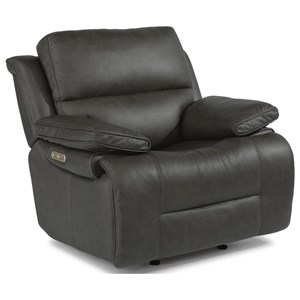 Casual Power Gliding Recliner with Power Headrest and USB Port