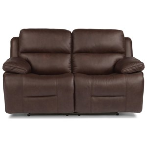 Casual Power Reclining Loveseat with Power Headrest