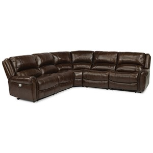 Power Reclining 4 Seat Sectional with Power Headrests