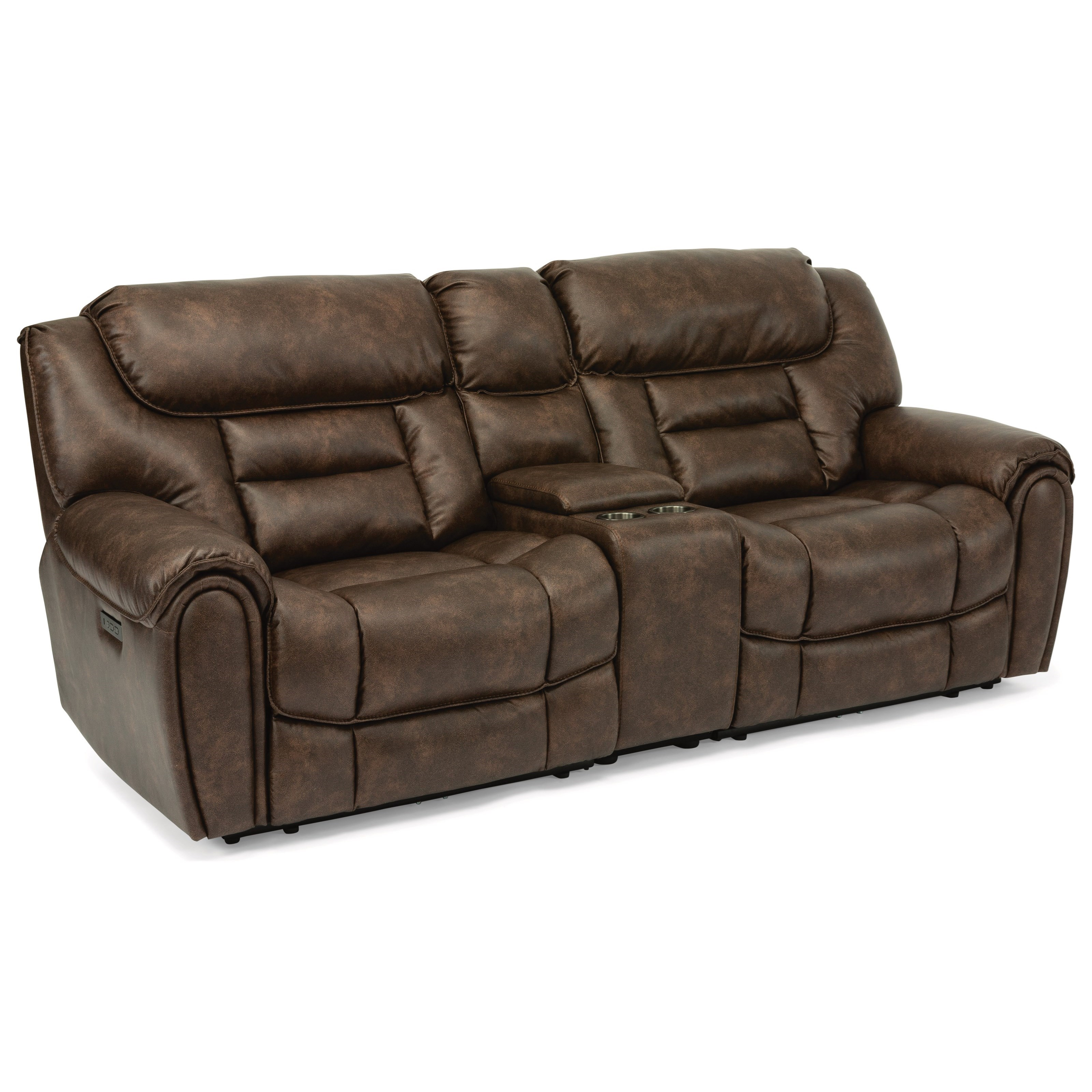 Latitudes - Buster Power Reclining Console Loveseat by Flexsteel at Goods Furniture