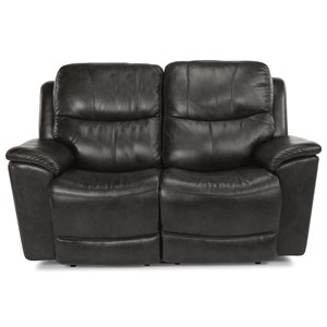 Power Reclining Love Seat with Power Headrest and Lumbar