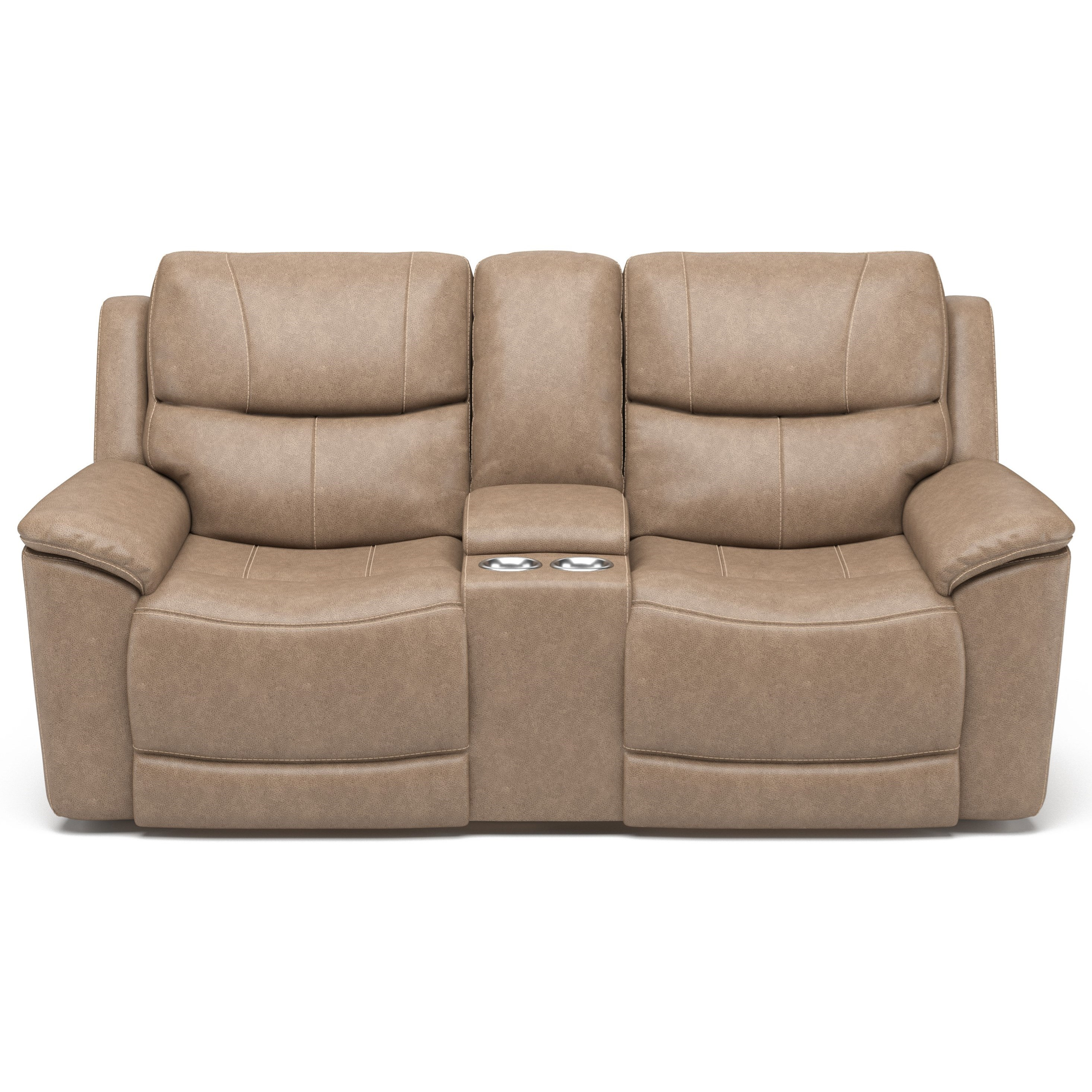 Latitudes - Cade Power Console Love Seat by Flexsteel at Walker's Furniture