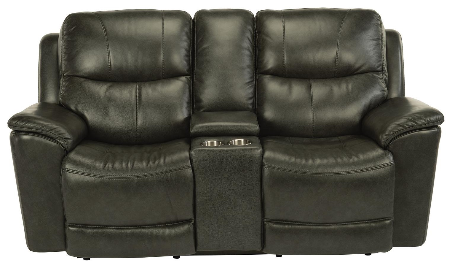Latitudes - Cade Power Console Love Seat by Flexsteel at Williams & Kay