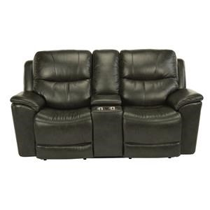 Power Console Love Seat with Power Headrest and Lumbar