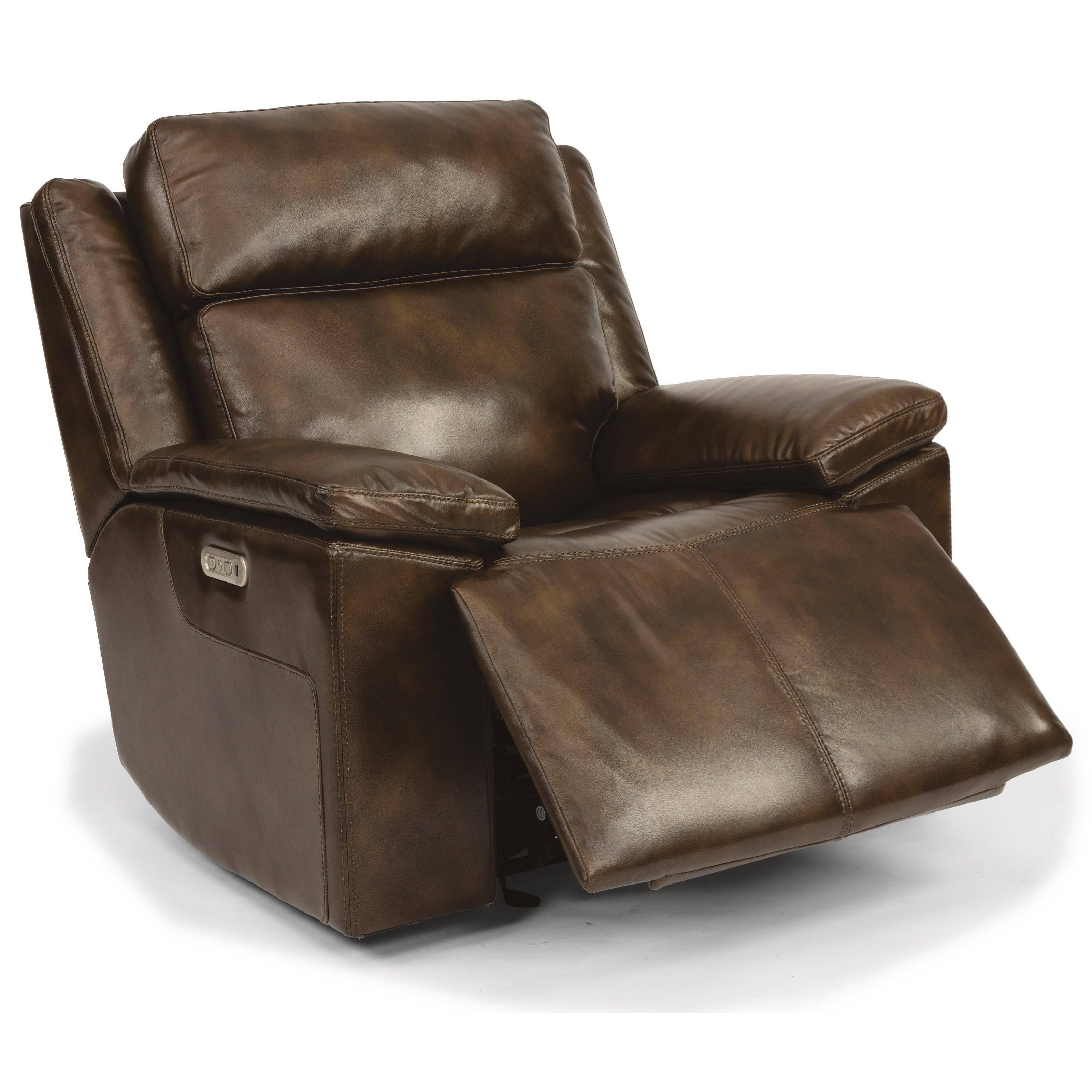Latitudes - Chance Pwr Gliding Recl w/ Pwr Headrest by Flexsteel at Walker's Furniture