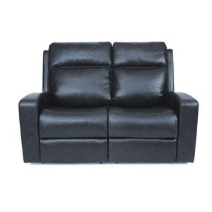 Contemporary Power Reclining Loveseat with Power Headrest and USB Ports