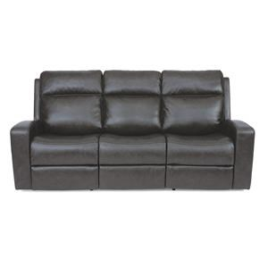 Contemporary Power Reclining Sofa with Power Headrest and USB Port