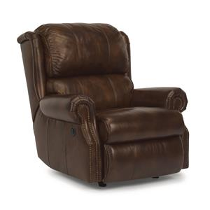 Traditional Recliner w/ Power and Nailhead Trim