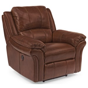 Casual Power Recliner with Contrast Stitching