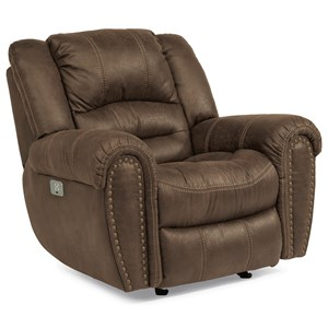 Transitional Power Recliner with Power Headrest